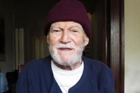 Charles Conley was crossing a football field when he heard about President JFK assassination.
