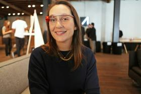 """The concept behind Glass is that it's really freeing. You don't need your hands to control it, so you'll be able to do whatever you want to do"", says Anna Richardson, communications manager for Google Glass."