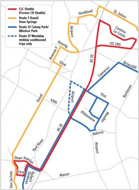 Changes are coming to North Austin Cap Metro lines on Jan. 7, 2014.