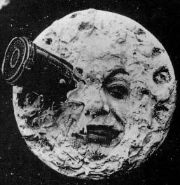 "A still from the French silent classic, ""A Trip to the Moon."""