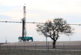 A jointly-owned oil rig atop the Eagle Ford shale south of San Antonio.