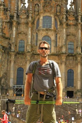 "Bob on the ""Camino de Santiago"" walking tour in Spain last summer."