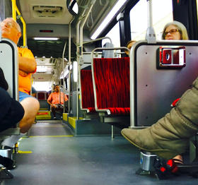 At any given time of day on the new MetroRapid bus line, rows and rows of sparsely populated seats fill the bus.