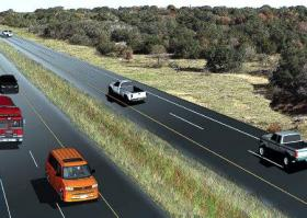 A rendering of the State Highway 45 extension. Some say the route of a proposed extension to SH 45 could negatively impact the Edwards Aquifer.