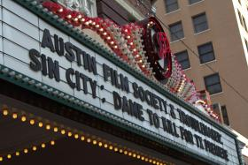 The marquee at Austin's Paramount Theater for the Texas premiere of 'Sin City: A Dame to Kill For.' See more photos from the event in the slideshow above.