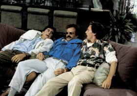 "From left: Jonathan Silverman, Terry Kiser and Andrew McCarthy in ""Weekend at Bernie's"""