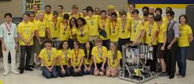 The AusTIN CANs robotoics club from Anderson High School won the Engineering Inspiration Award, besting 400 other teams in the international FIRST Robotics World Championship.