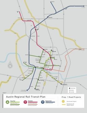 The map of proposed routes for rail.