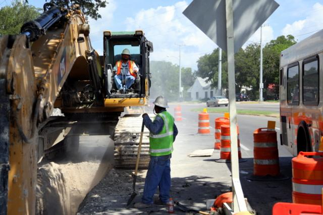 A street construction program was halved in the latest bond spending proposal.