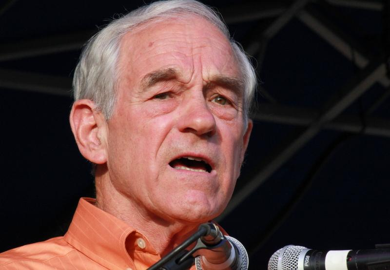 Ron Paul speaks at an Austin rally last month.