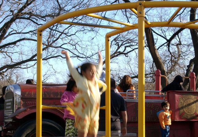 "The playgorund at Zilker Park. $20 million in improvements to ""metropolitan"" parks have been recommended for bond dollars."