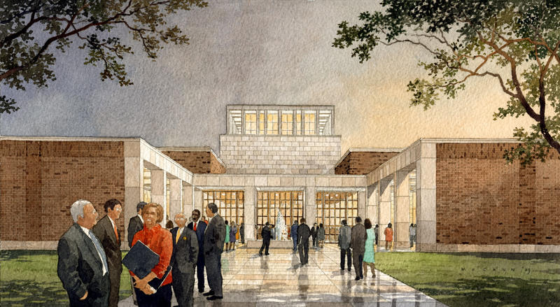 An artist's rendering of Freedom Plaza, part of the George W. Bush Presidential Center opening in 2013.