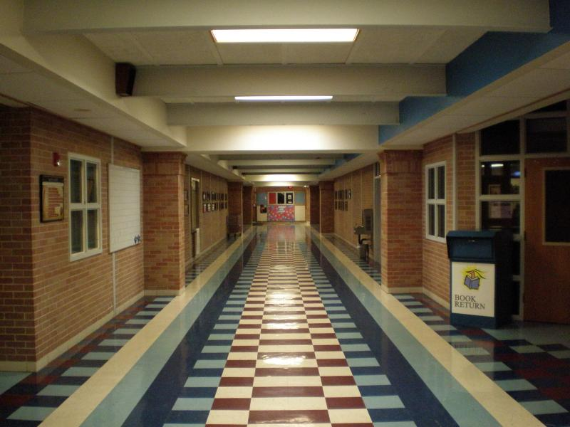 Hallway at Eastside Memorial High School