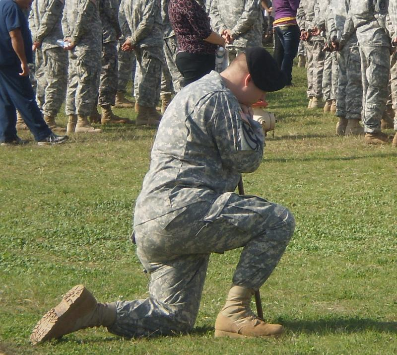 Fort Hood memorial soldier