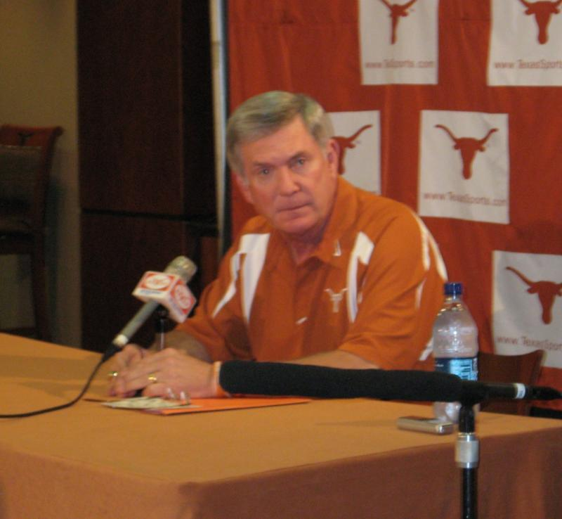 Longhorns head coach Mack Brown