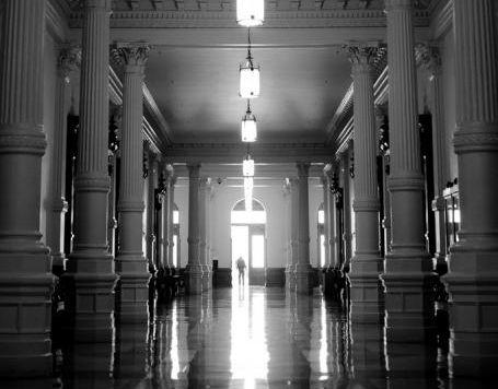 Long hallway in the State Capitol