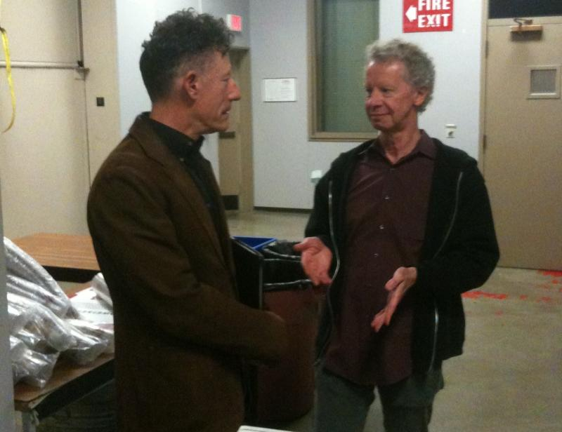 Lyle Lovett and Terry Lickona