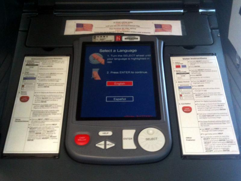 Travis County eSlate voting machine