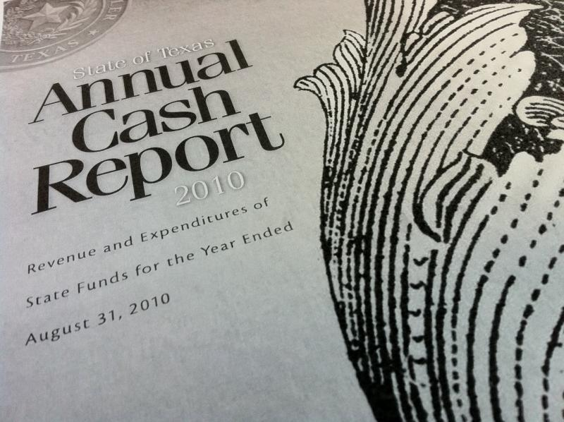 State of Texas Annual Cash Report 2010