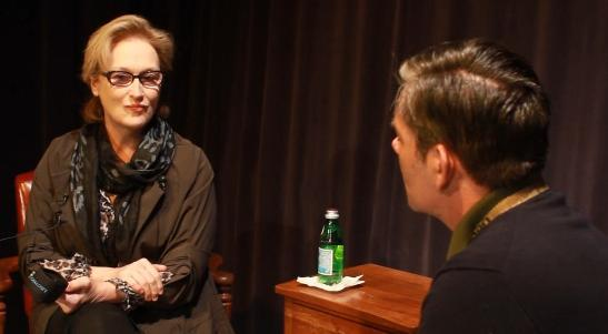 Meryl Streep visited the UT campus Friday.