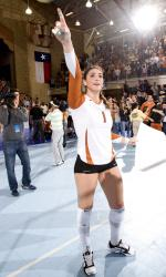 Senior Juliann Faucette helped the Longhorns reach the NCAA's Volleyball Championship Final Four.