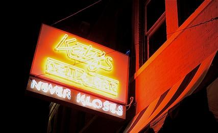 "The piercing neon ""Katz's Never Kloses"" sign will go dark just after New Year's"
