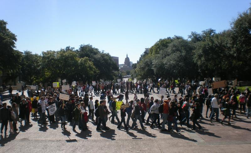 Protest at University of Texas