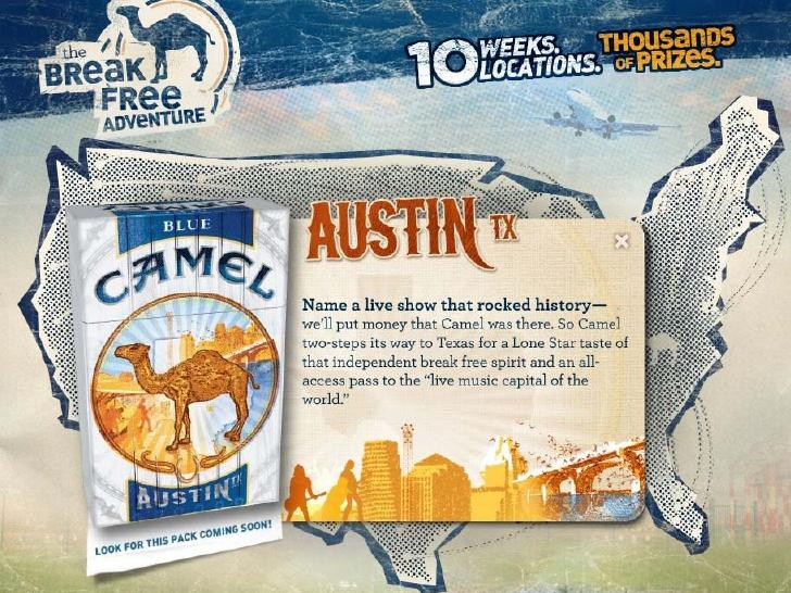 Austin-branded Camel Cigarettes