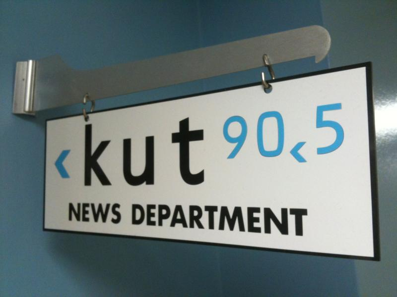 KUT News sign