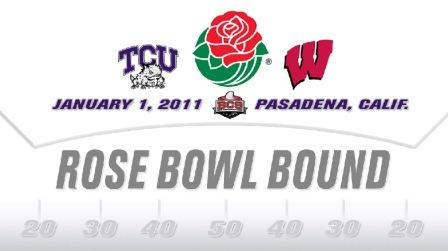 TCU will play Wisconsin in the Rose Bowl on New Year's Day.