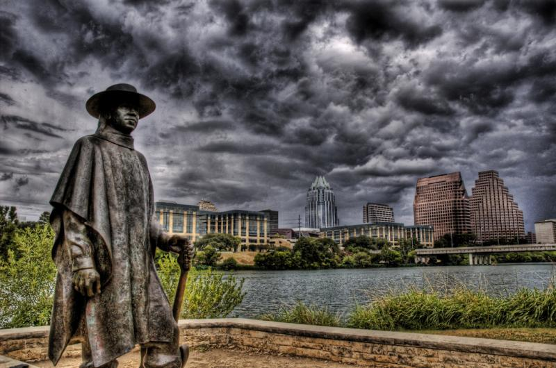 Stevie Ray Vaughn in the storm