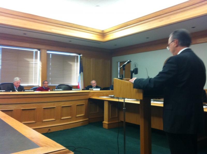 Fire expert Craig Beyler testifies before the Texas Forensics Science Commission on Friday reviewing the Cameron Todd Willingham.