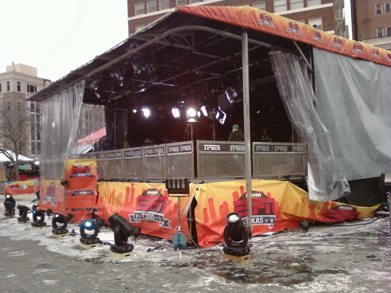 Sundance Square in Fort Worth was Ground Zero for ESPN's Super Bowl Coverage