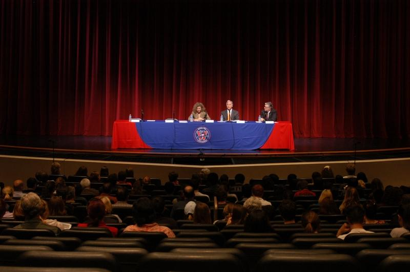 State lawmakers Donna Howard, Kirk Watson, and Paul Workman provided Eanes ISD parents with an update on the state budget last night at the Westlake High School Performing Arts Center.