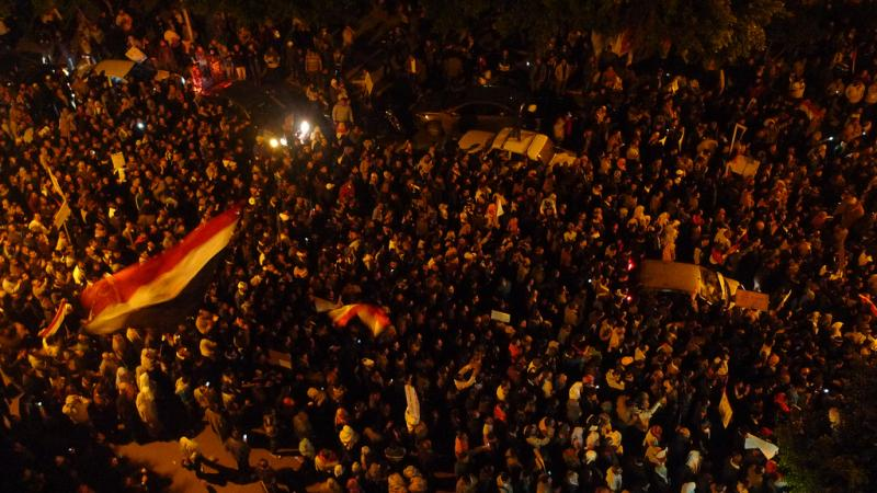 Thousands of Egyptians protest against President Hosni Mubarak in this February 1, 2011 photo.