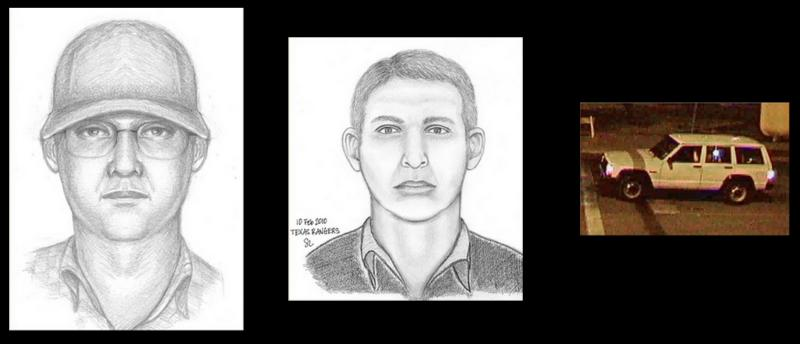 Texas DPS released these sketches of the man that investigators believe threw the cocktail that set the Governor's Mansion on fire. Investigators says this vehicle was seen four days before fire taking pictures of the building.