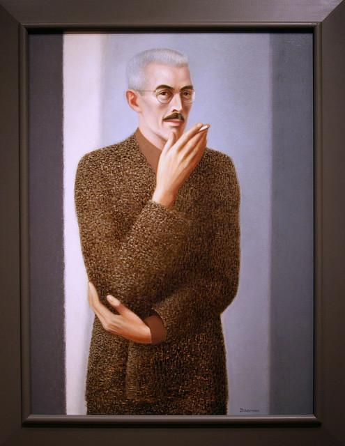 A portrait of author Dashiell Hammett by Edward Biberman hangs in the Smithsonian National Portrait Gallery