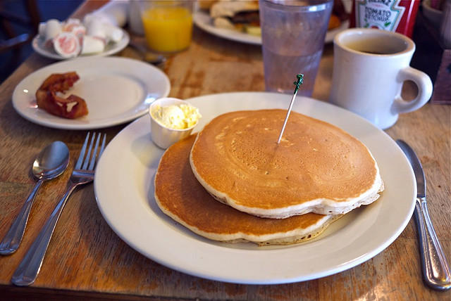 A stack of pancakes from Austin's Kerby Lane Cafe.