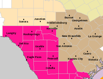 Wind Advisory for Central Texas