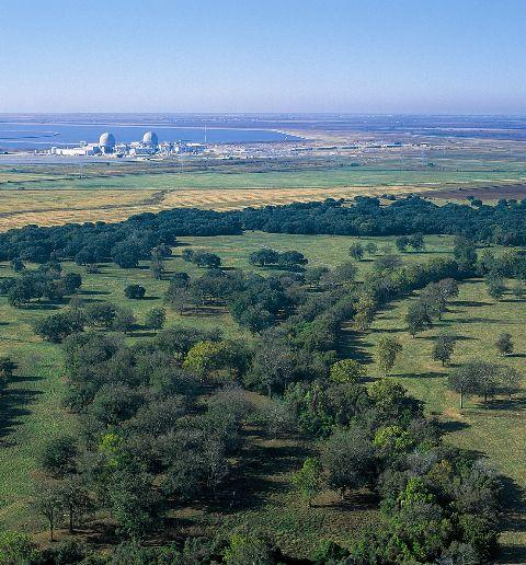 South Texas Project nuclear facility, in Matagorda Bay, is in the process of adding two more units.