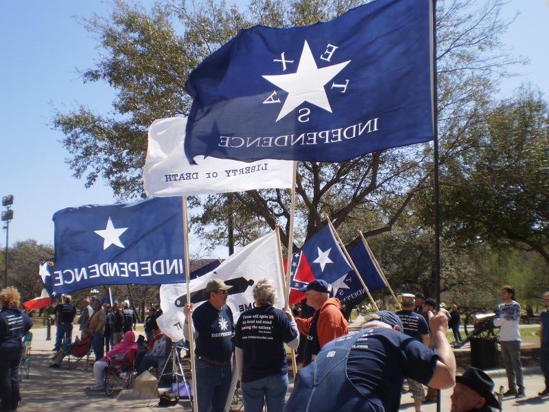 People with the Texas Nationalist Movement rallied at the State Capitol Saturday for Texas to withdrawl from the United States. Several Texas Independence celebration events took place over the weekend.
