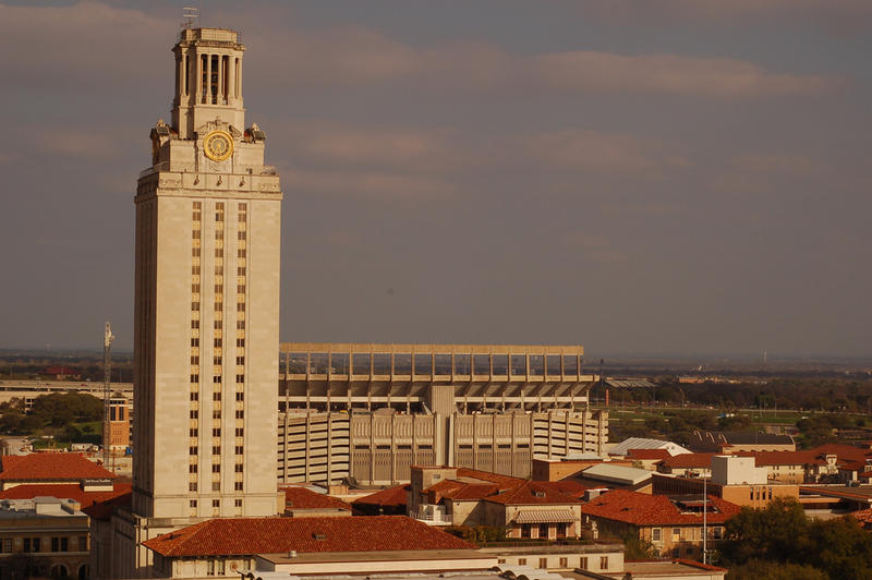 University of Texas authorities were on heightened alert for a time this evening, after a man was believed to be carrying two shotguns on campus.  He wasn't.