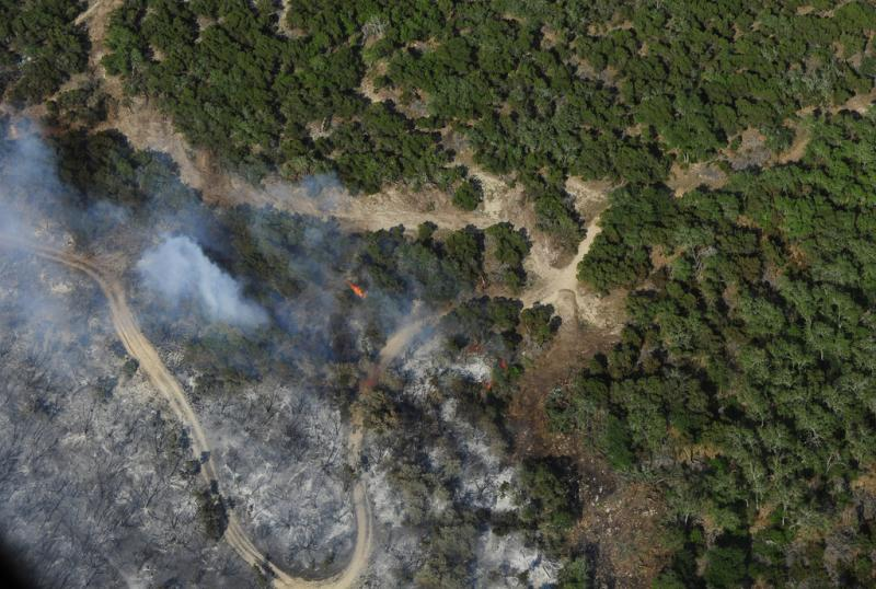 Extreme drought has made for tinderbox conditions that are fueling wildfires across Texas, like this one earlier this month in Oak Hill.