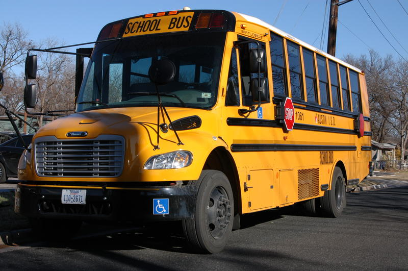 Austin ISD buses are currently devoid of any advertising, but that could change.