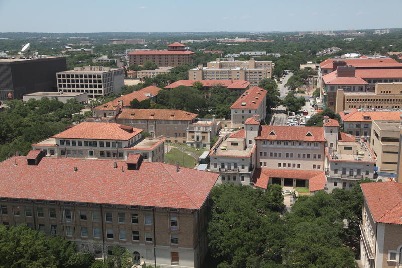 A view of UT Austin's campus from the Main Tower.