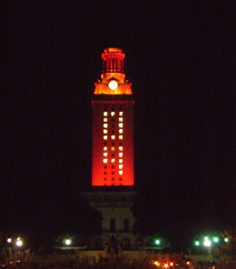 UT's Tower will take on an orange glow to celebrate the women's golf team's Big-12 Championship