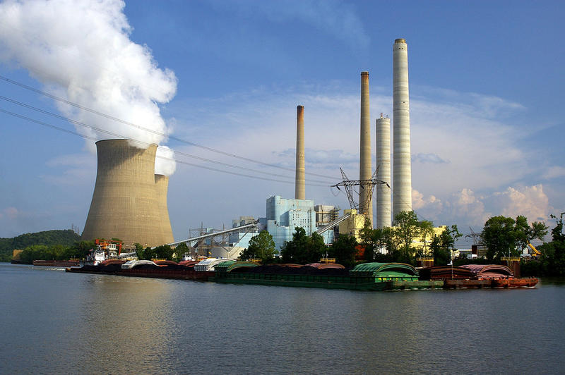 A coal power plant in West Virginia. A new study says hydraulic fracturing, a method used to extract natural gas, is more harmful than coal energy because of the large amounts of methane gas it emits.