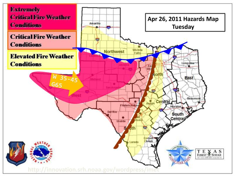Austin is facing elevated fire weather conditions.