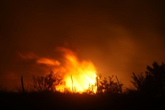 Wildfires, like this one near San Angelo, continue to plague parts of North and West Texas