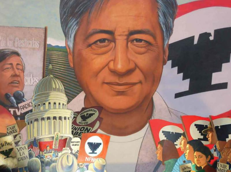 A Cesar Chavez poster by the US Department of Labor to mark Cesar Chavez Day.